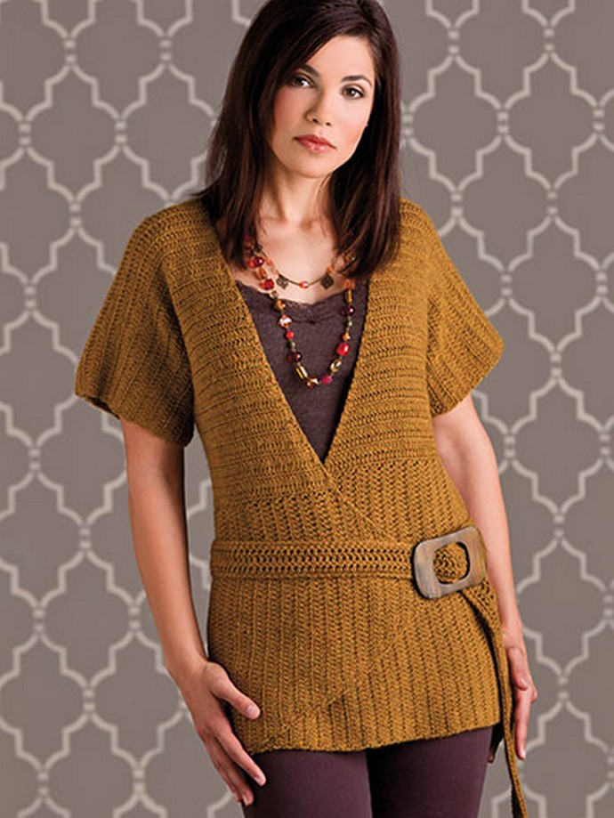 Angles & Lines Top Free Crochet