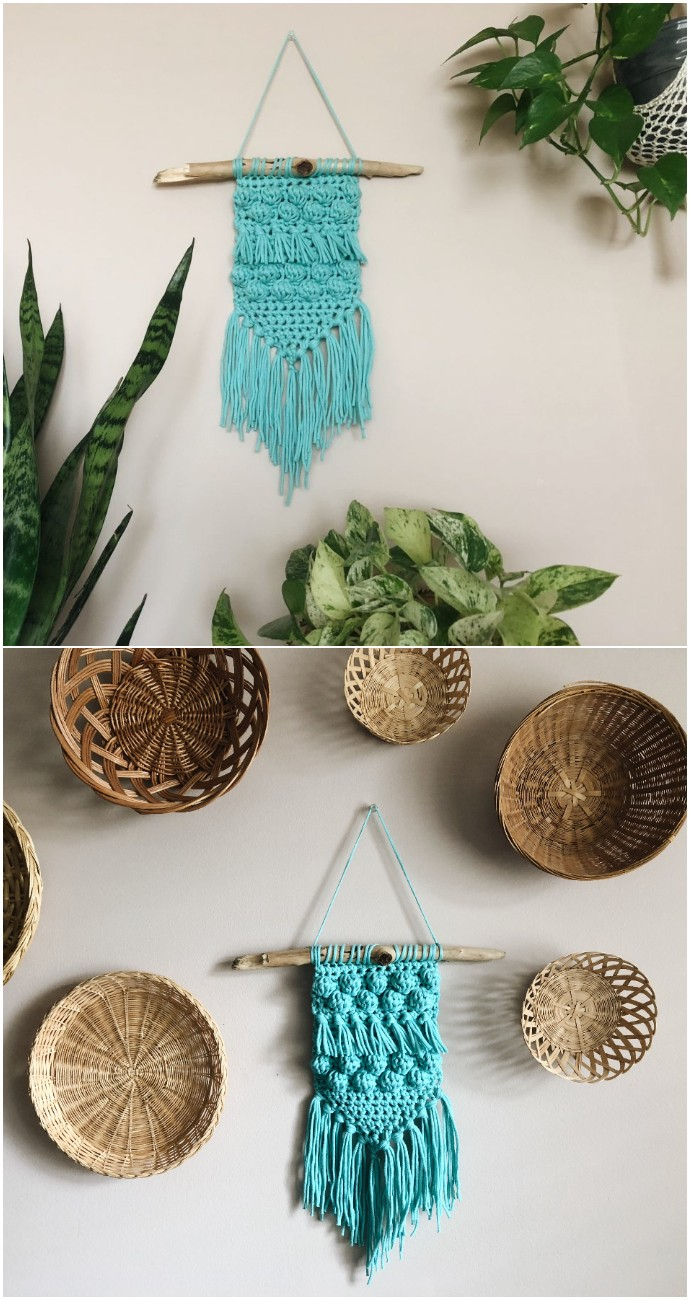 Free Crochet Beach Babe Wall Hanging