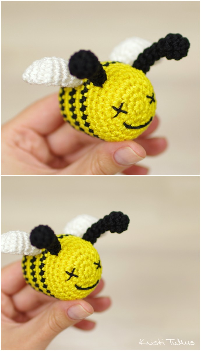 Free Crochet Pattern Bumble Bee Rattle