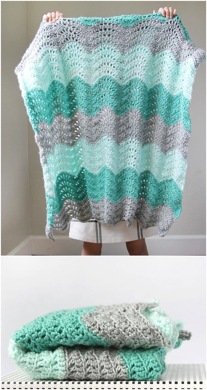 Free Crochet Feather Blanket Pattern