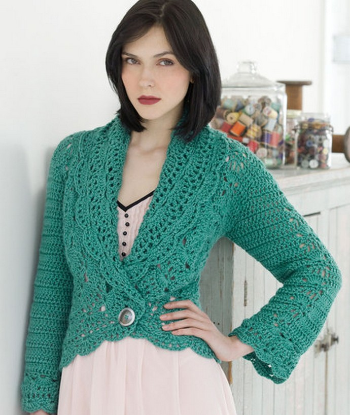 Free Crochet Filigree Cardigan