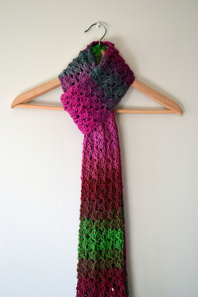 Free Crochet In Color Isar Scarf
