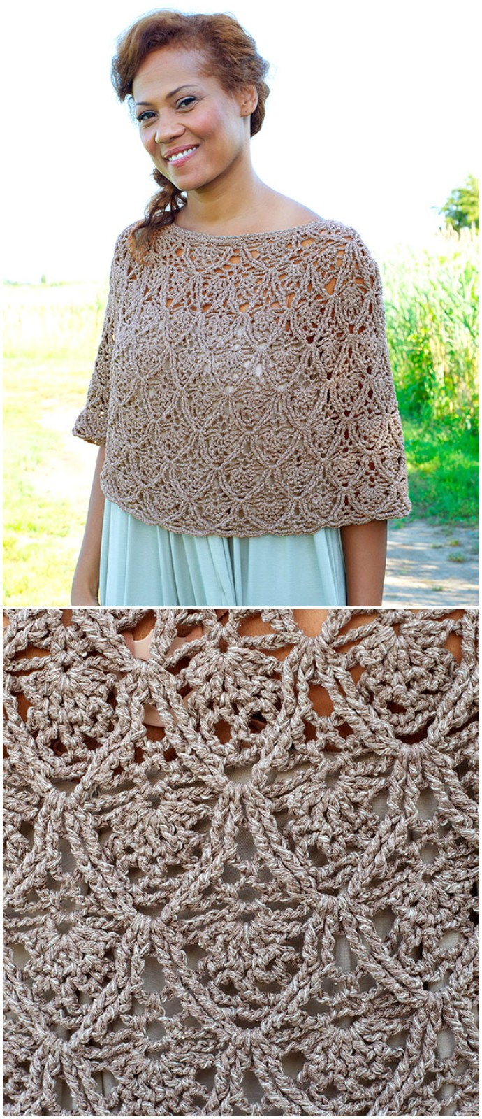 Free Crochet Lacy Day Poncho