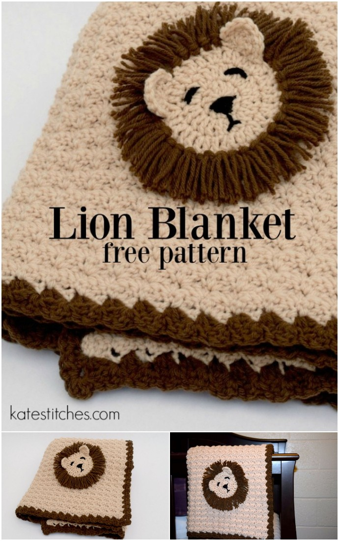 Free Crochet Lion Blanket