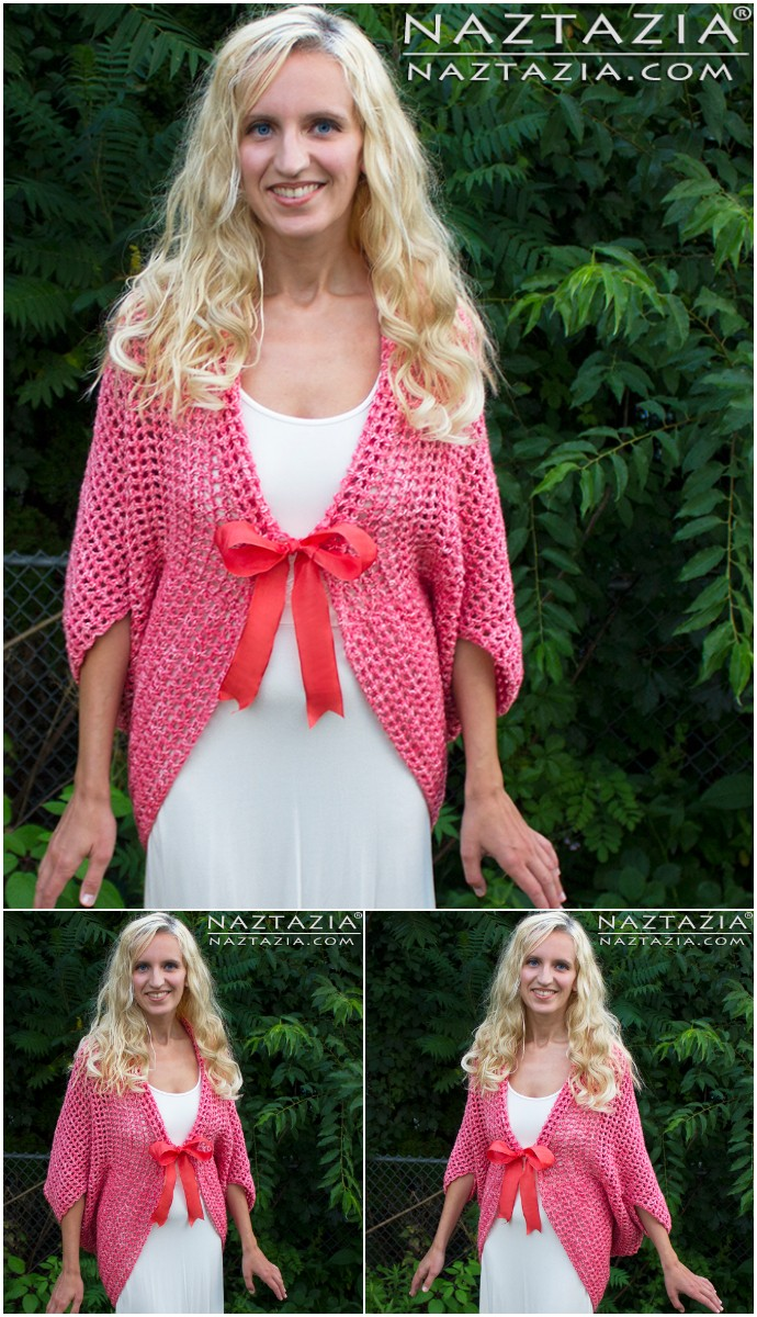 Free Crochet Mesh Sweater Cardigan