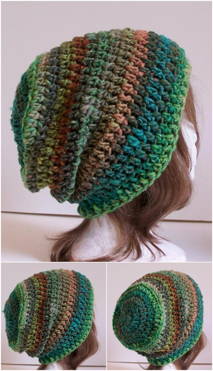 Free Crochet Outlier Slouchy Toque Bulky