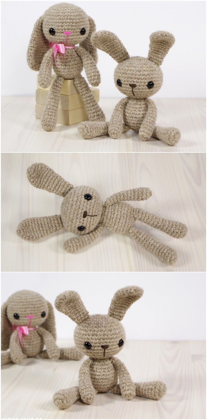 Free Crochet Pattern Small Long legged Bunny