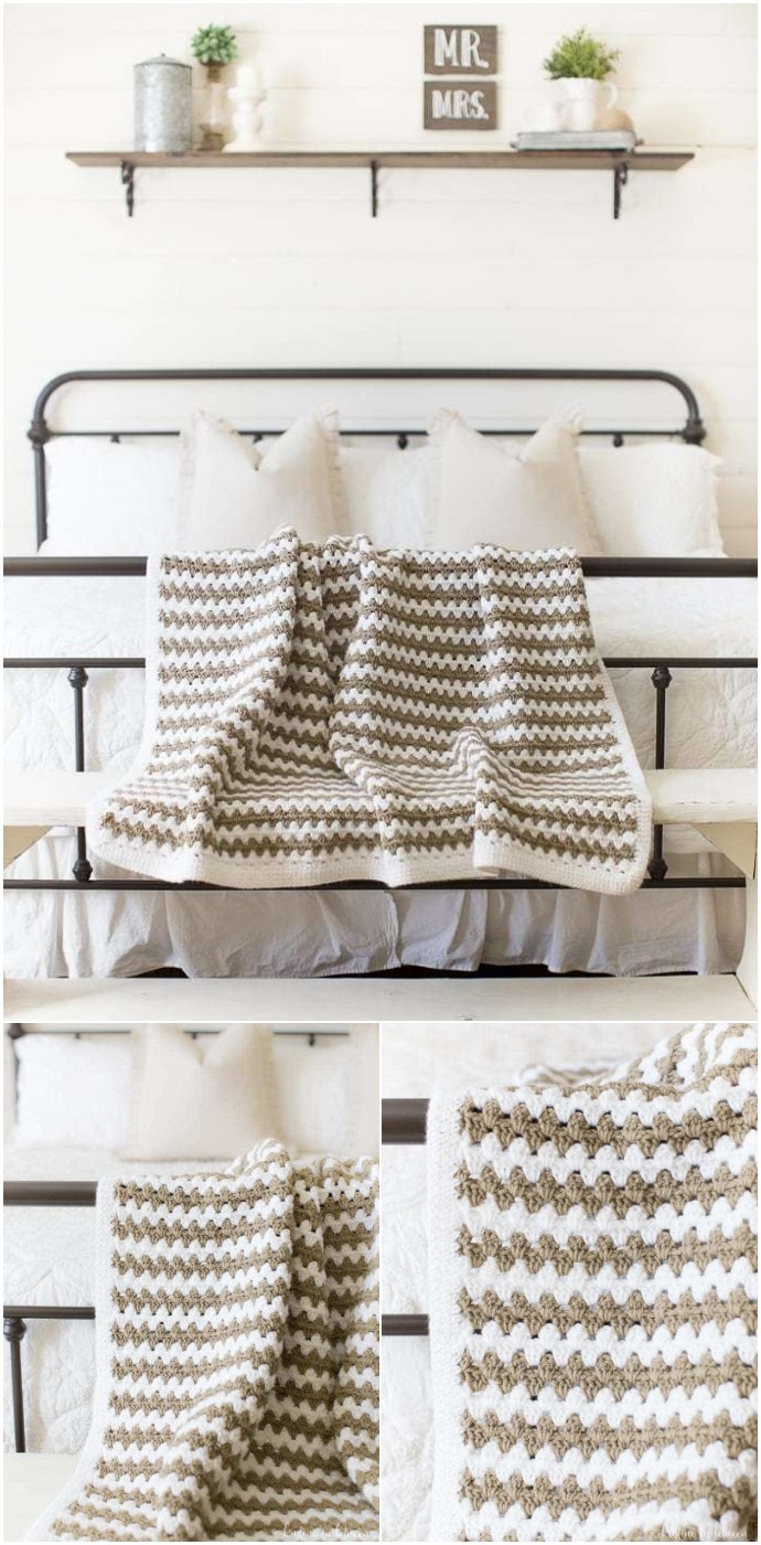 Free Crochet Simple Granny Stripe Afghan
