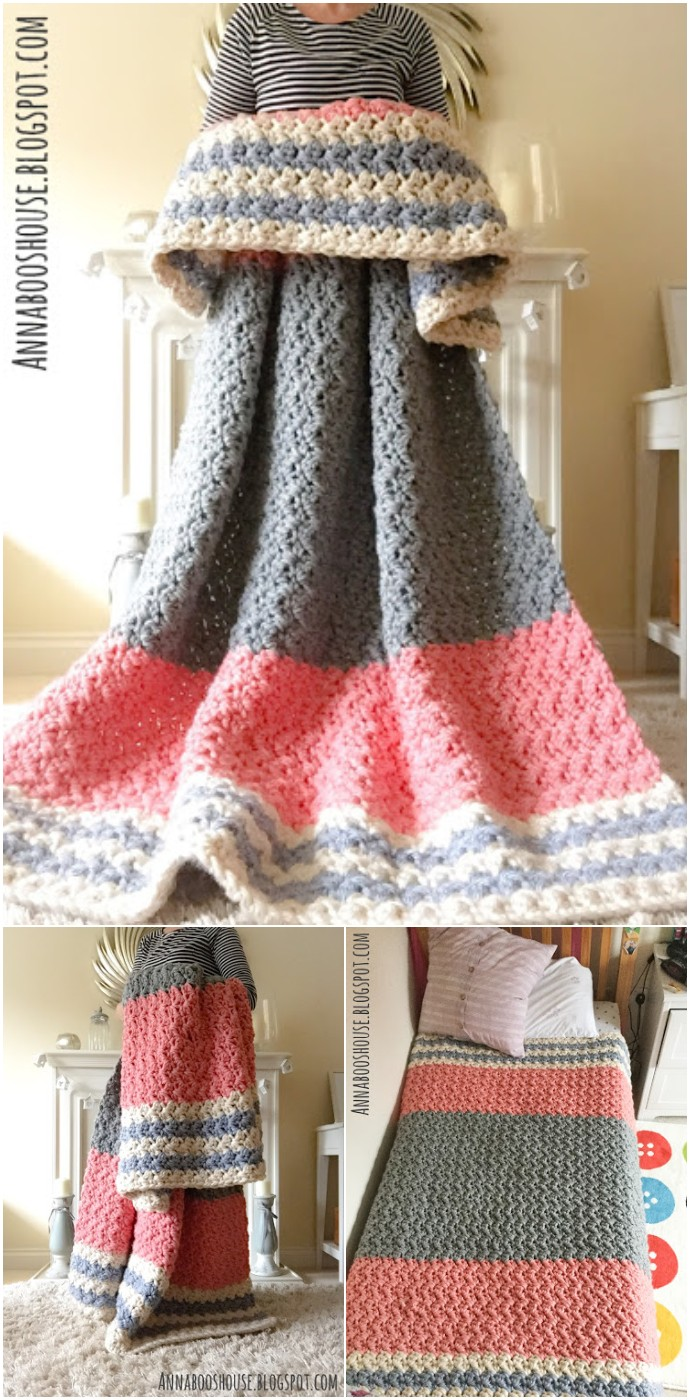 Free Crochet The Enormous Squishy Blanket