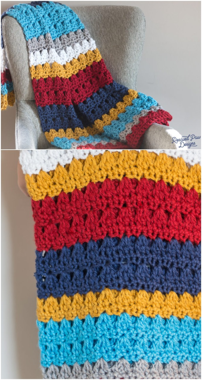 Free Crochet Throw Blanket Pattern
