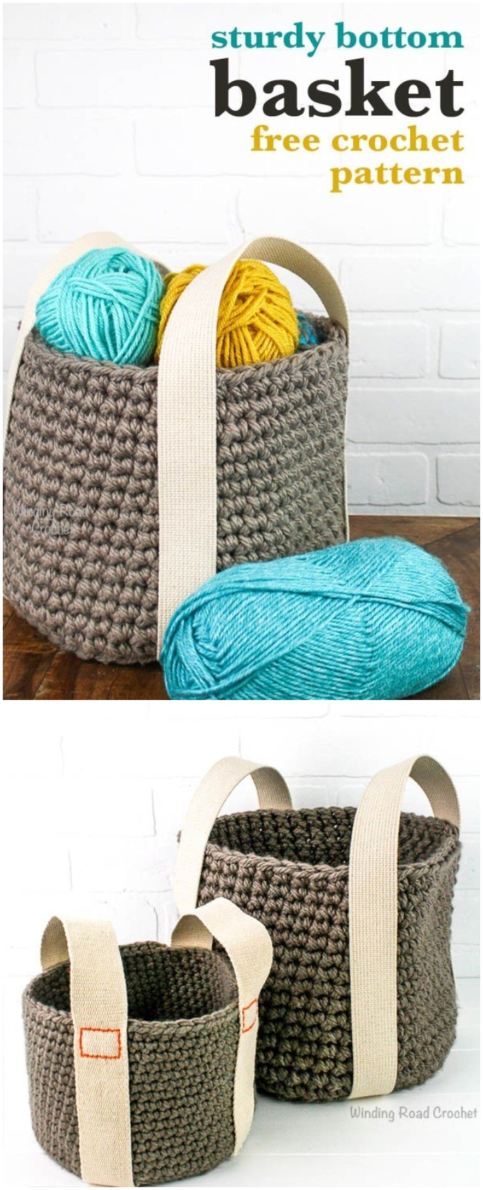 Sturdy Bottom Basket Free Crochet