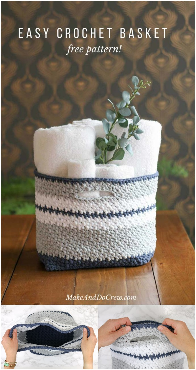 The Jacqueline Easy Free Crochet Basket
