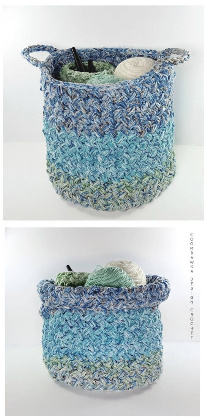 Yarn Stash Basket Free Stash Buster Pattern