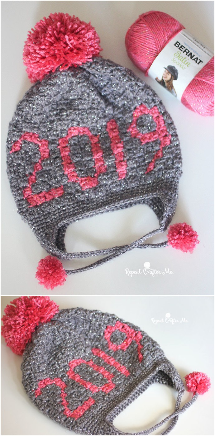 2019 Corner To Corner Crochet Baby Hat