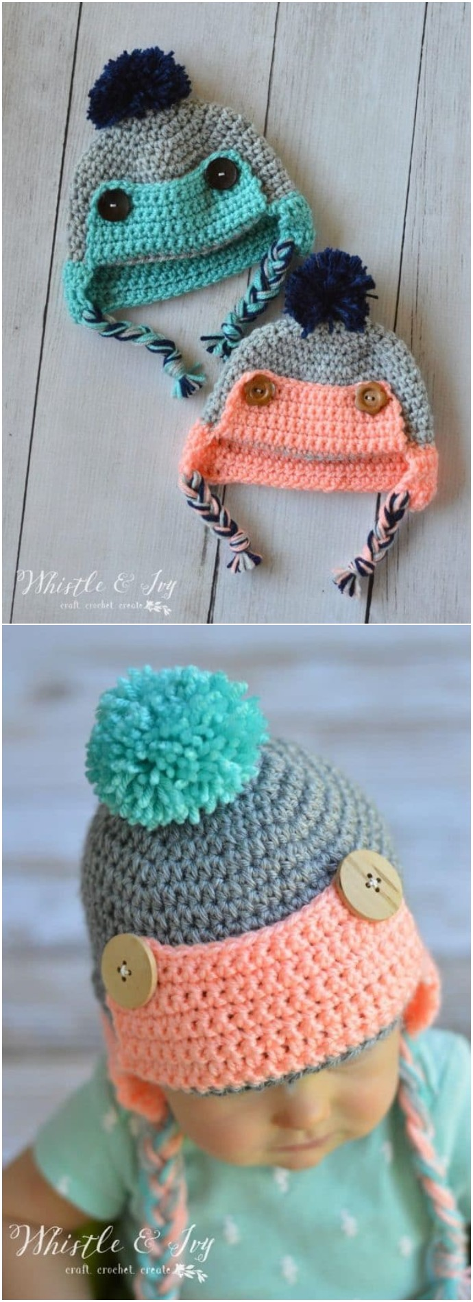 Baby Trapper Hat Free Crochet Pattern