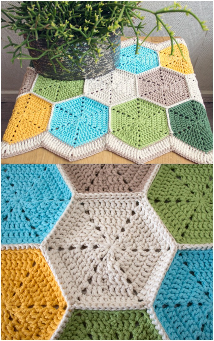 Beautiful Hexagon Table Runner