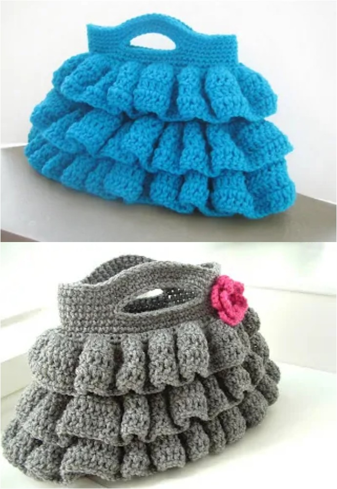 Bella Ruffled Bag Free Crochet Pattern