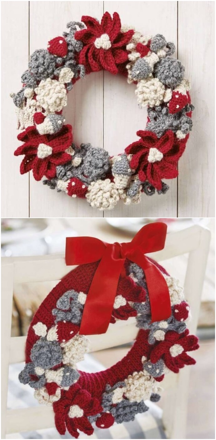 Christmas Gnomes And Woodland Wreath
