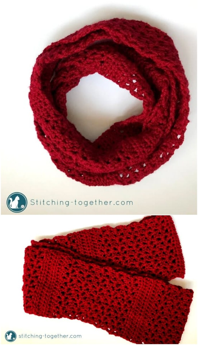 Coco Free Crochet Infinity Scarf
