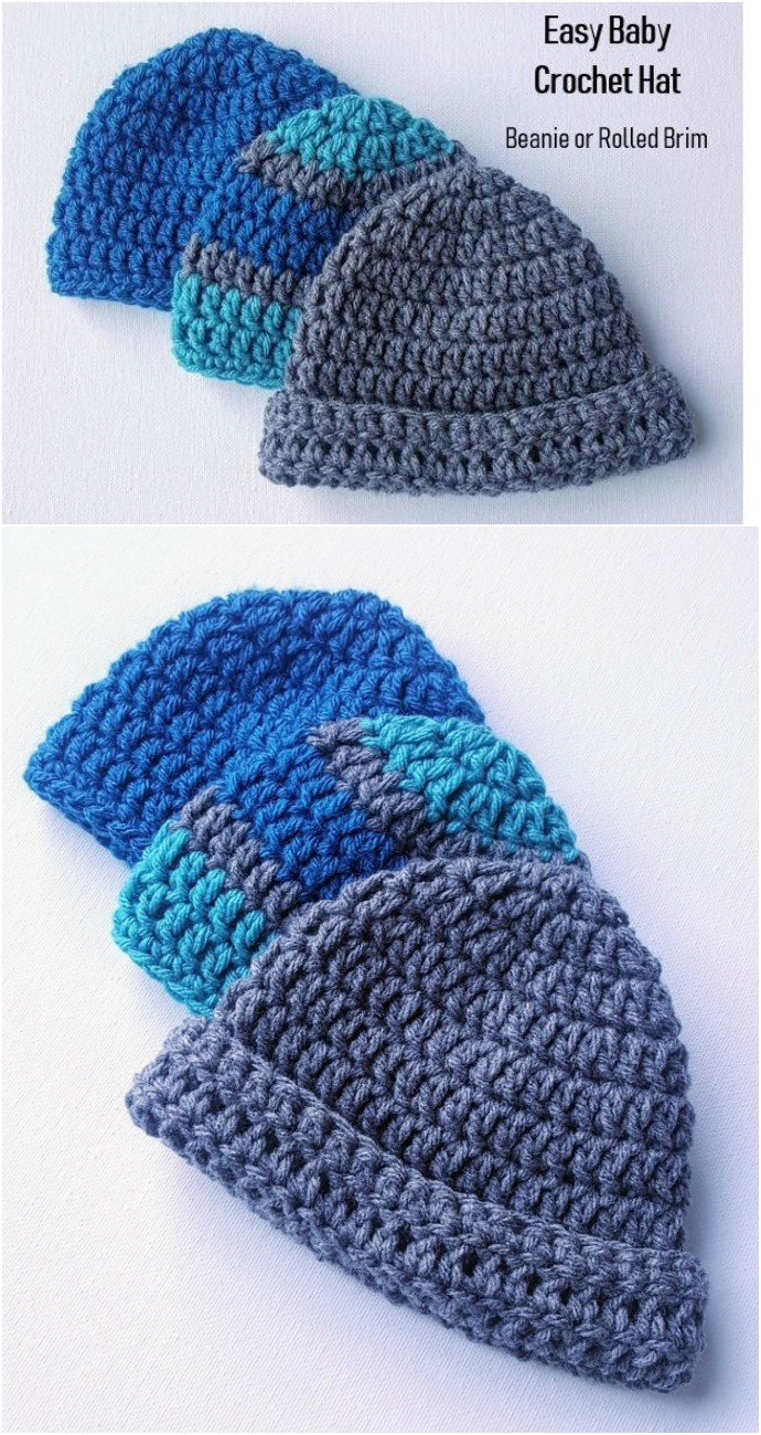Easy Baby Crochet Hat