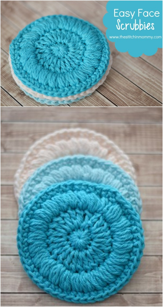 Easy Face Scrubbies Free Crochet Pattern