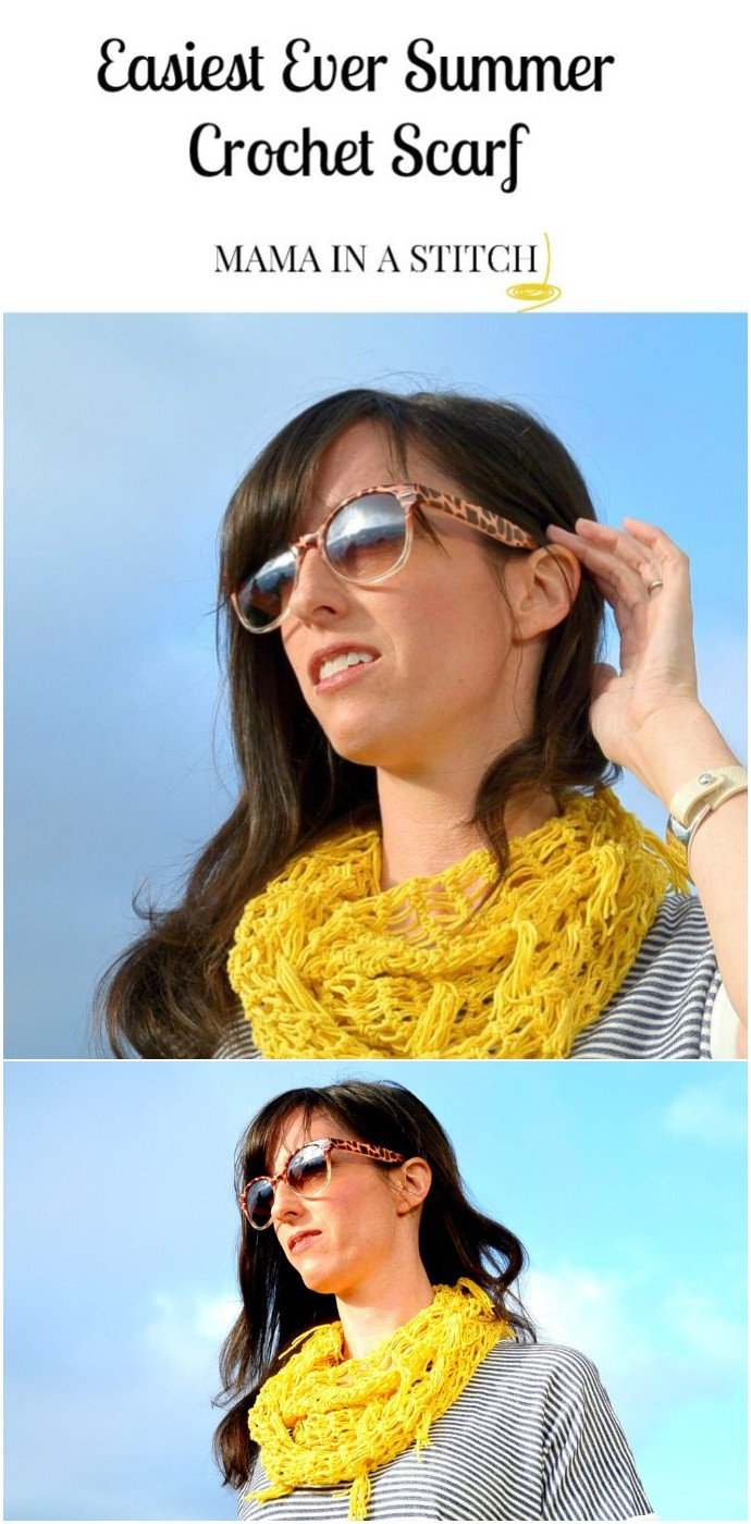 Easy Free Crochet Spring Infinity Scarf