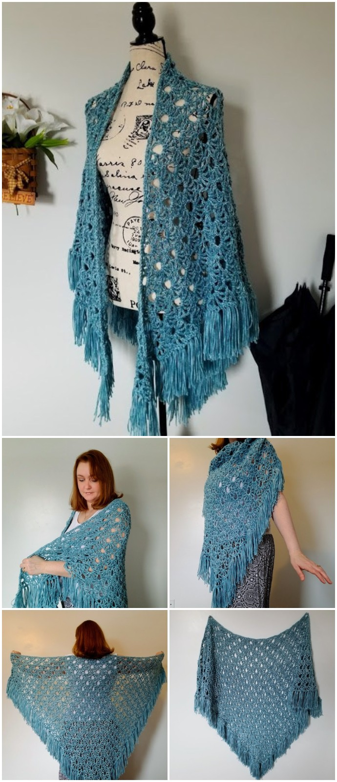 Free Crochet April Showers Shawl