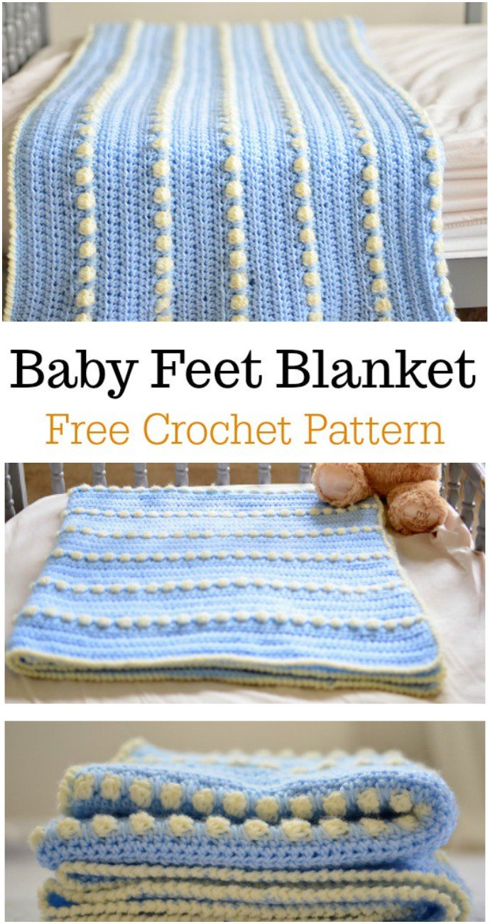 Free Crochet Bobble Stitch Baby Blanket