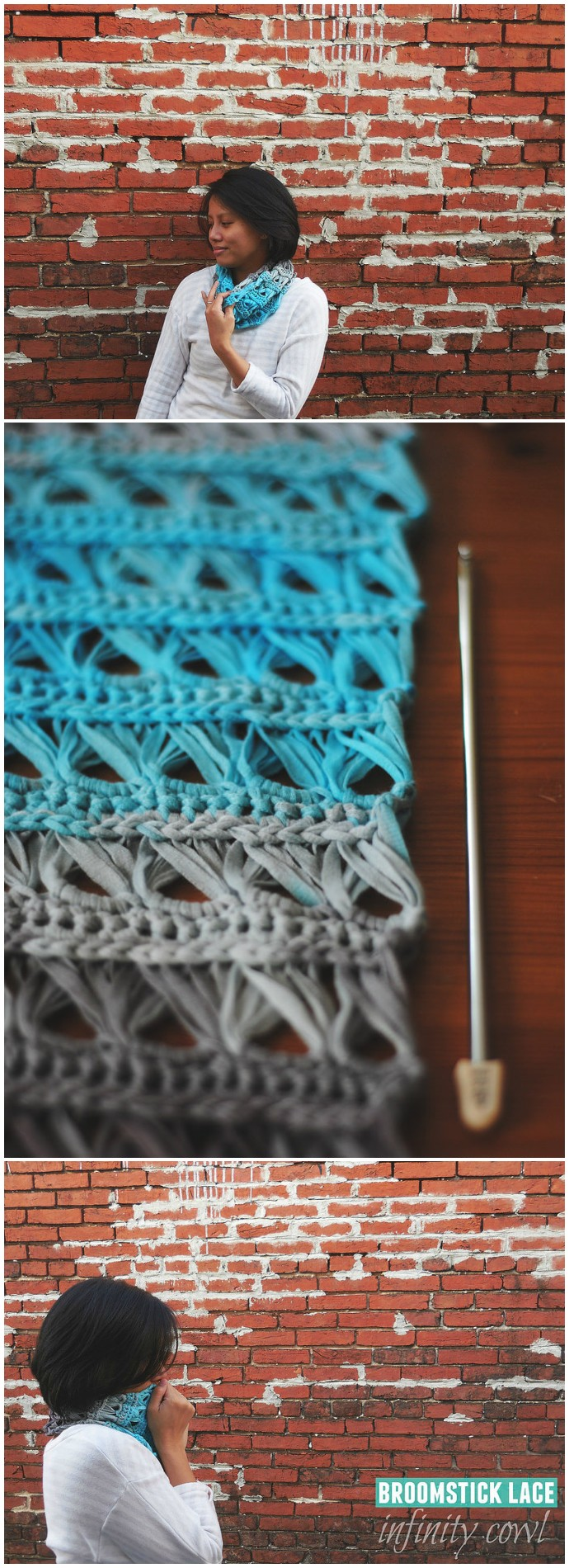 Free Crochet Broomstick Lace Infinity Scarf
