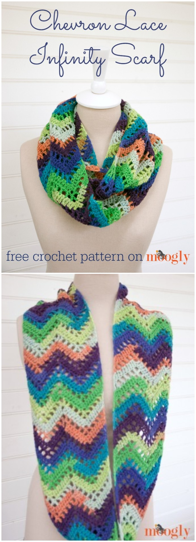 Free Crochet Chevron Lace Infinity Scarf