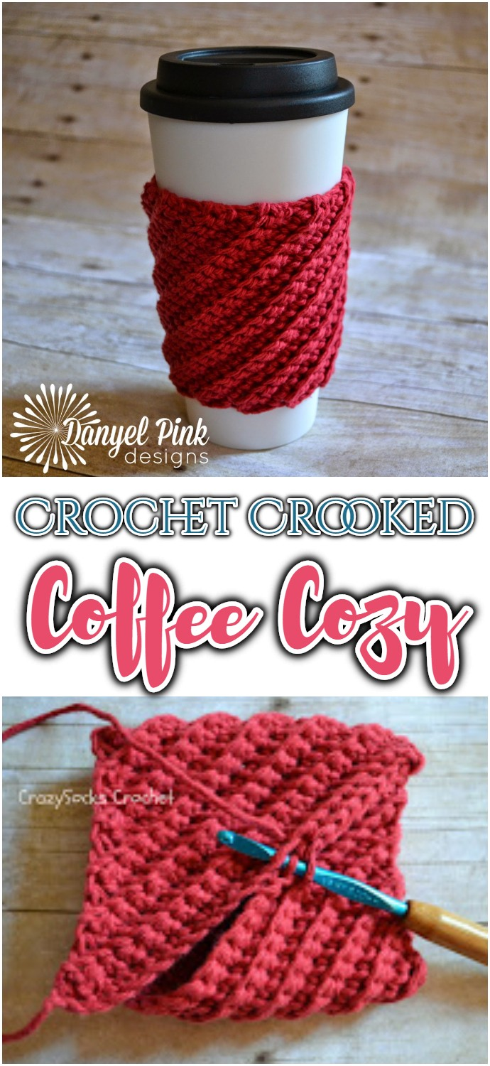 Free Crochet Crooked Coffee Cozy