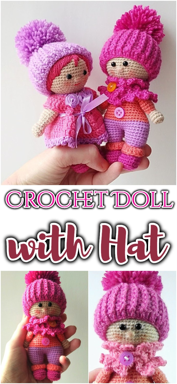 Free Crochet Doll with Hat