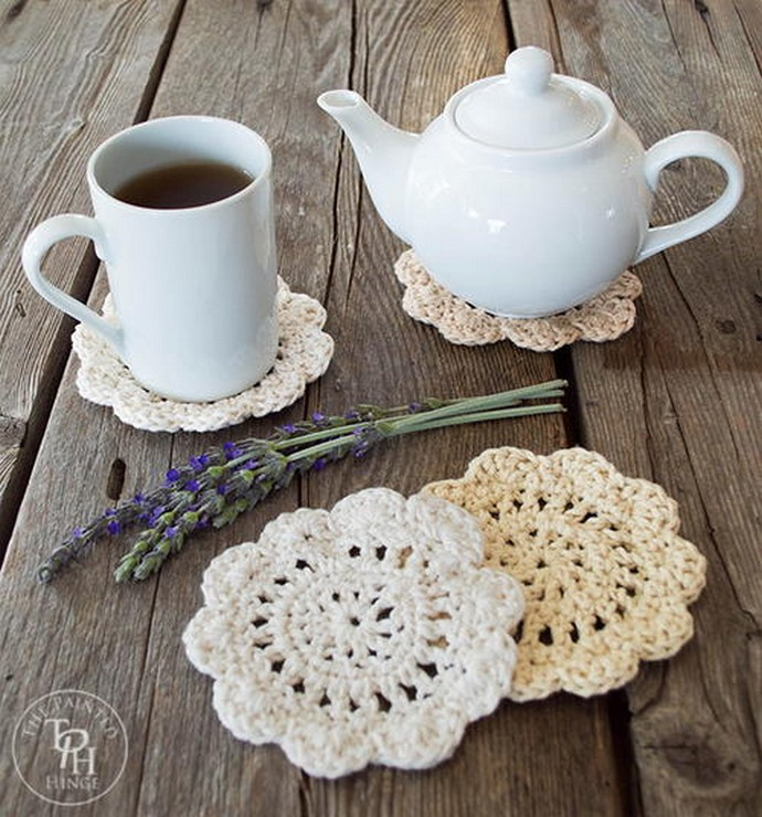 Free Crochet Farmhouse Style Coasters