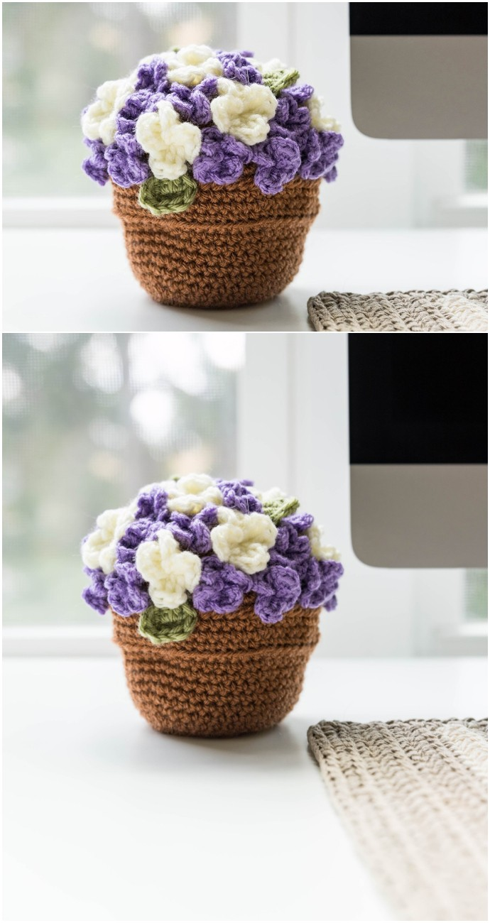 Free Crochet Flower Pot