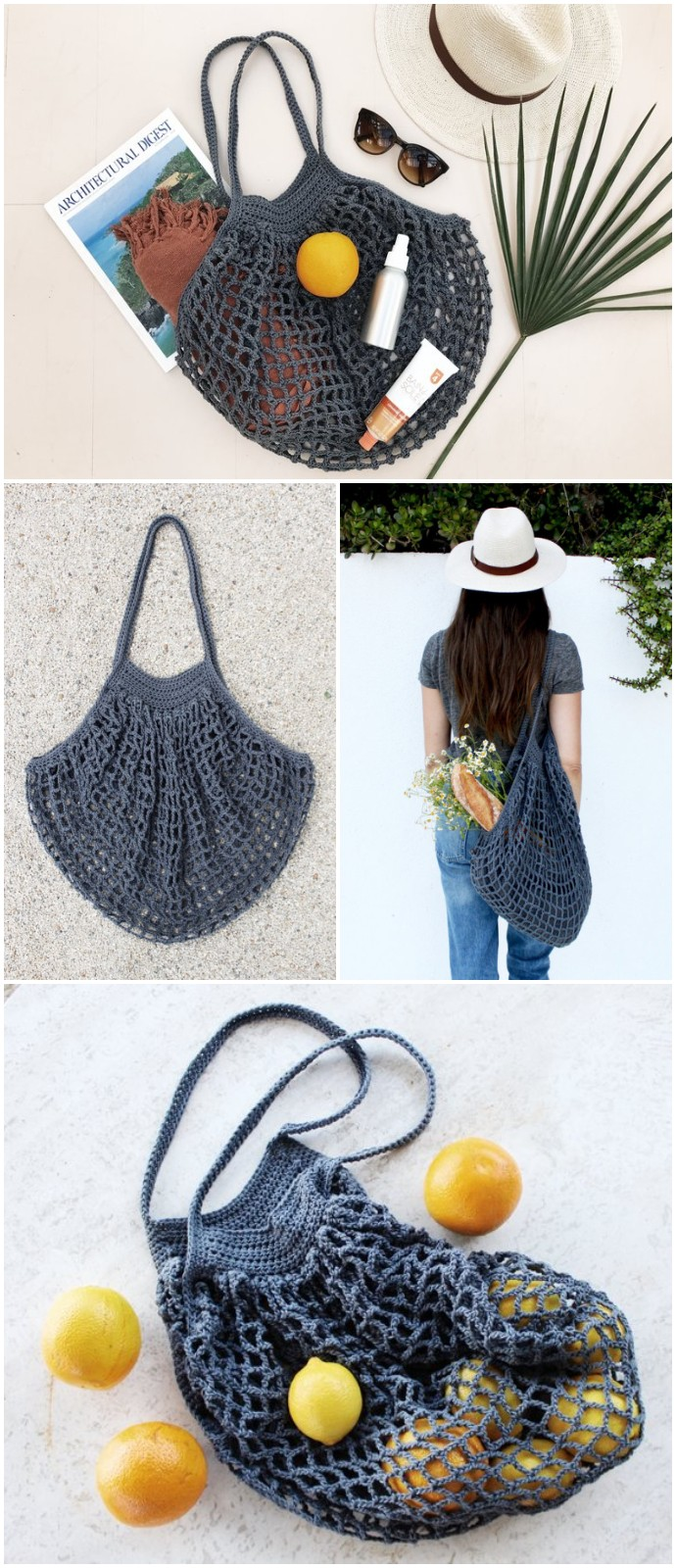 Free Crochet French Market Bag