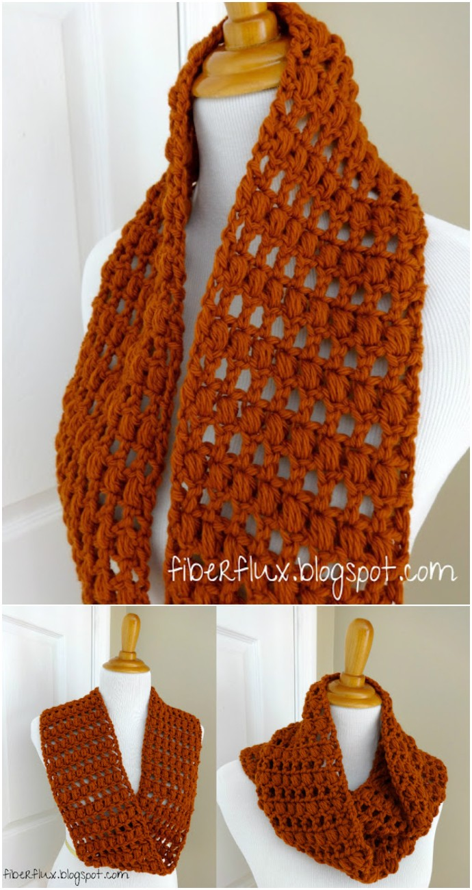 Free Crochet Ginger Snap Infinity Scarf