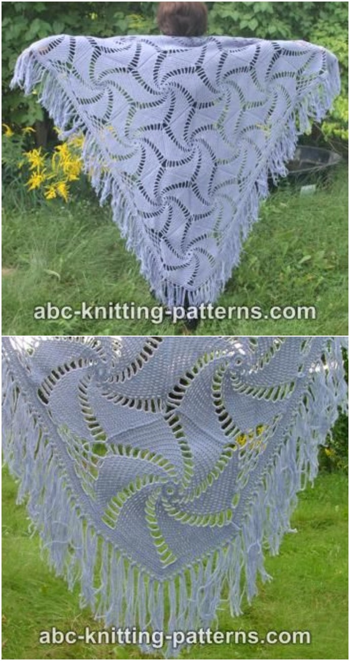 Free Crochet Hexagonal Motif Shawl