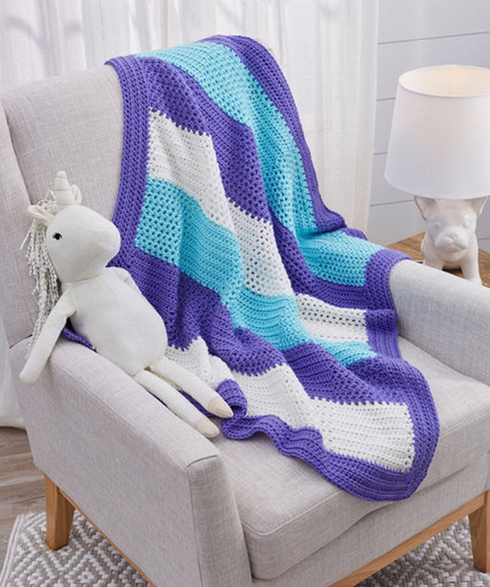 Free Crochet Sweet Squares Baby Blanket