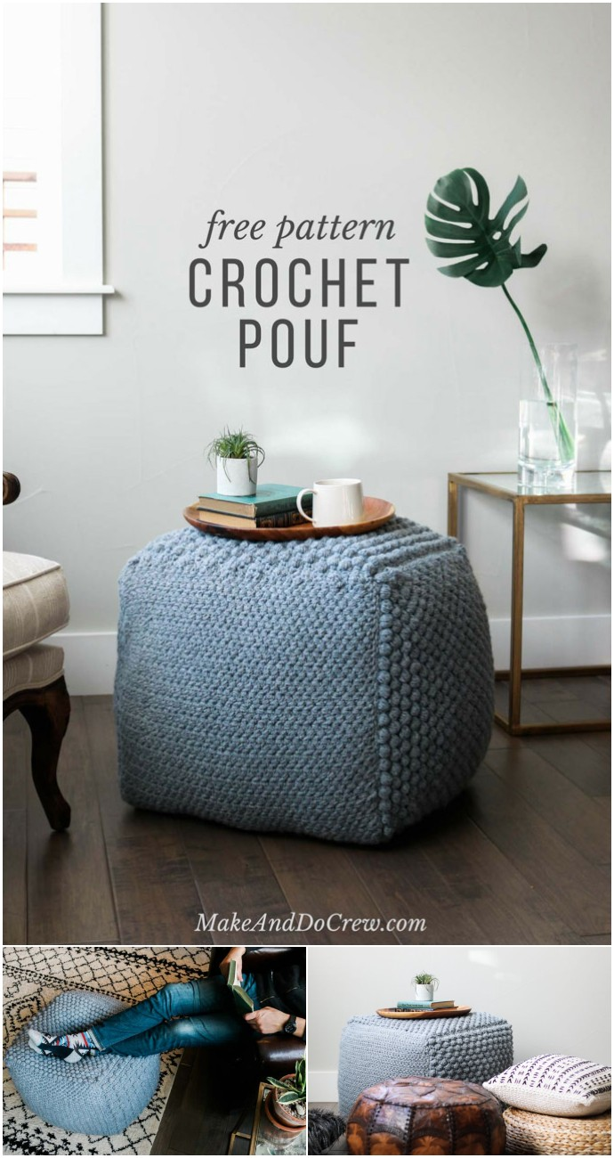 Free Crochet The Sampler Pouf