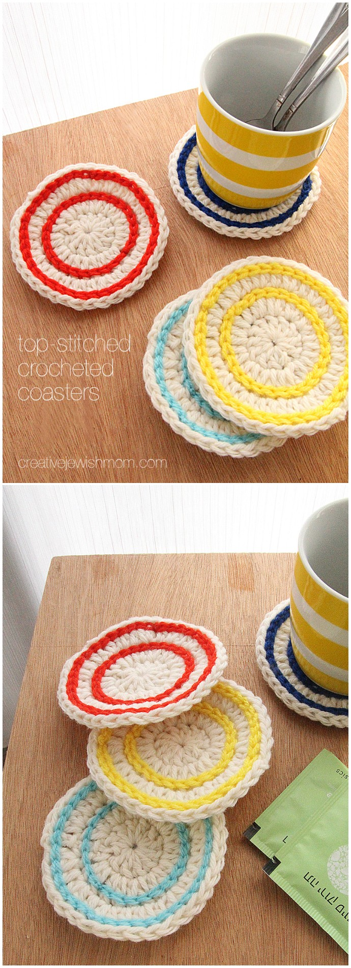 Free Crocheted Coasters Are The Perfect Tiny Gift