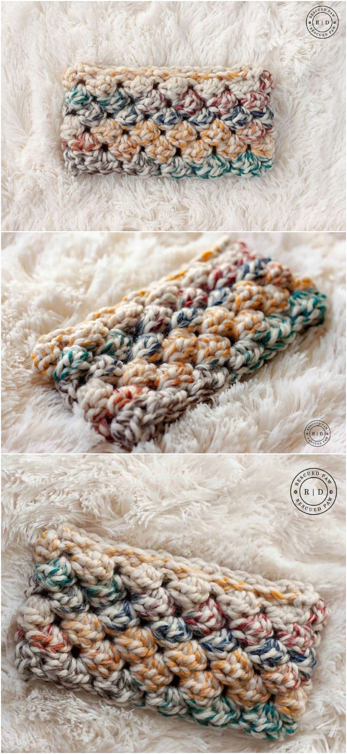 Free Puff Crochet Headband Pattern