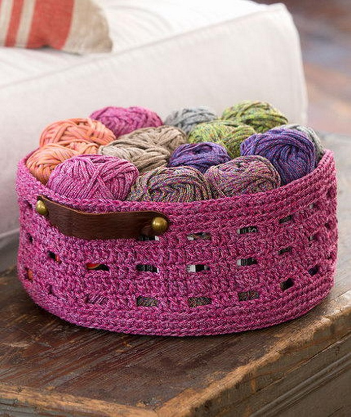 Grape Cordial Free Crochet Basket