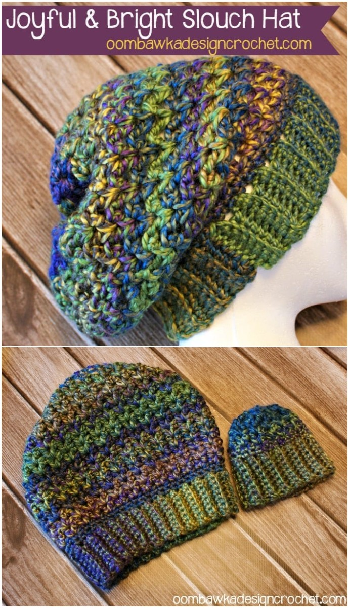 Joyful And Bright Slouch Hat Pattern