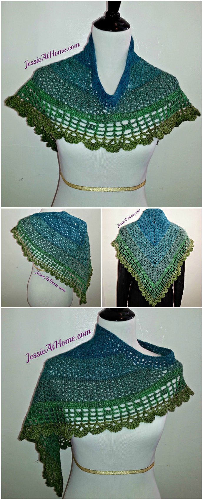 Juliette Shawl Free Crochet Pattern