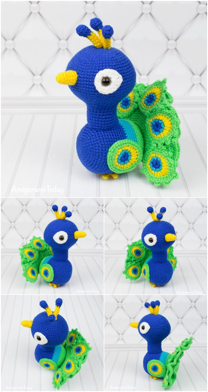 Paco The Peacock Free Crochet Pattern