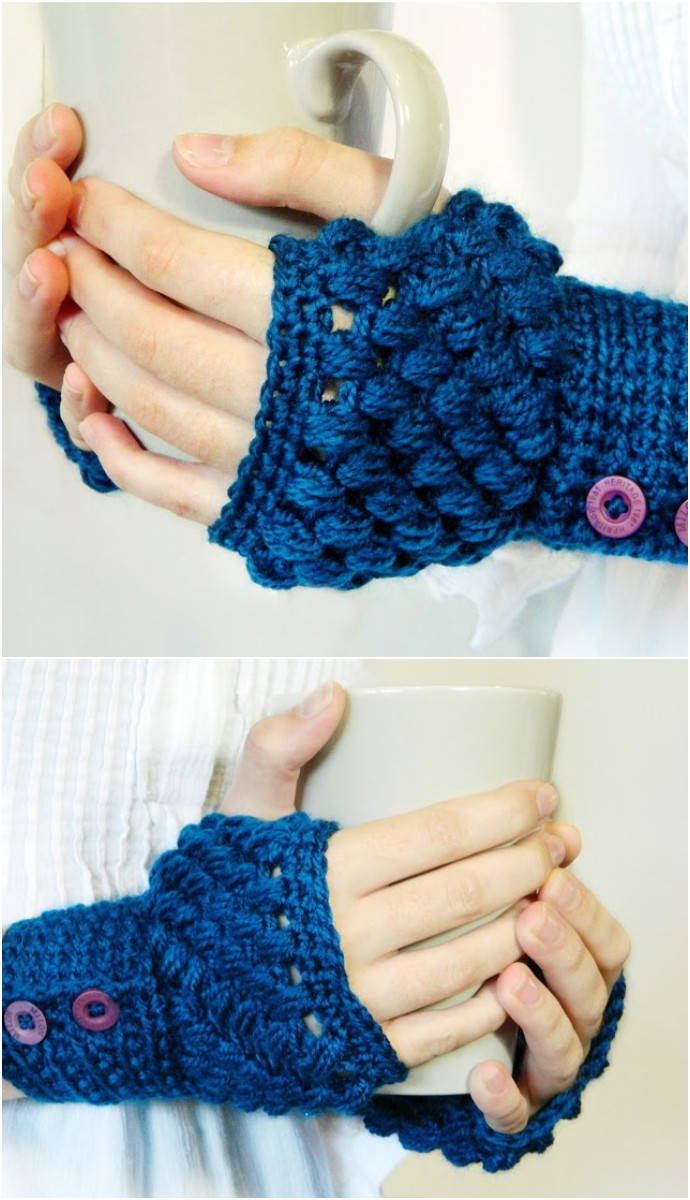 Puff Stitch Fingerless Pattern
