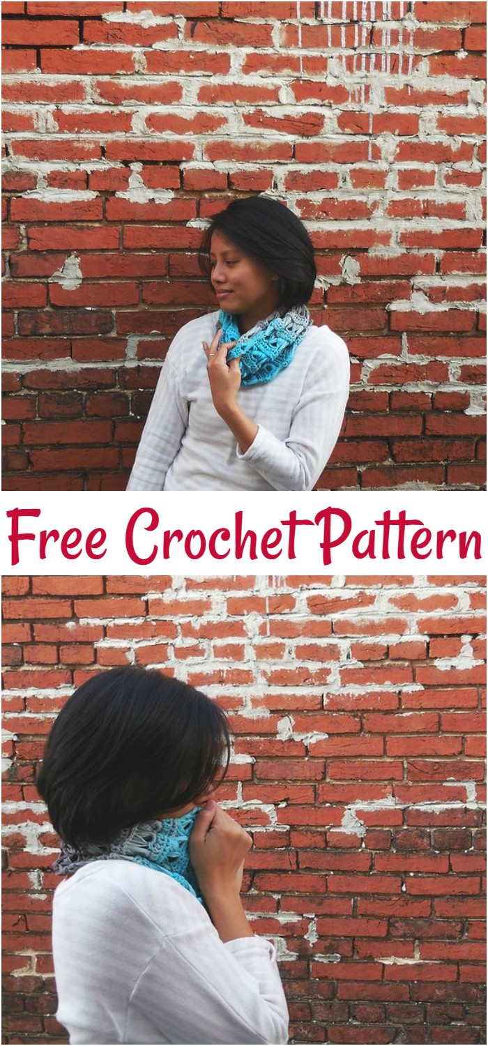 Crochet Broomstick Lace Infinity Cowl