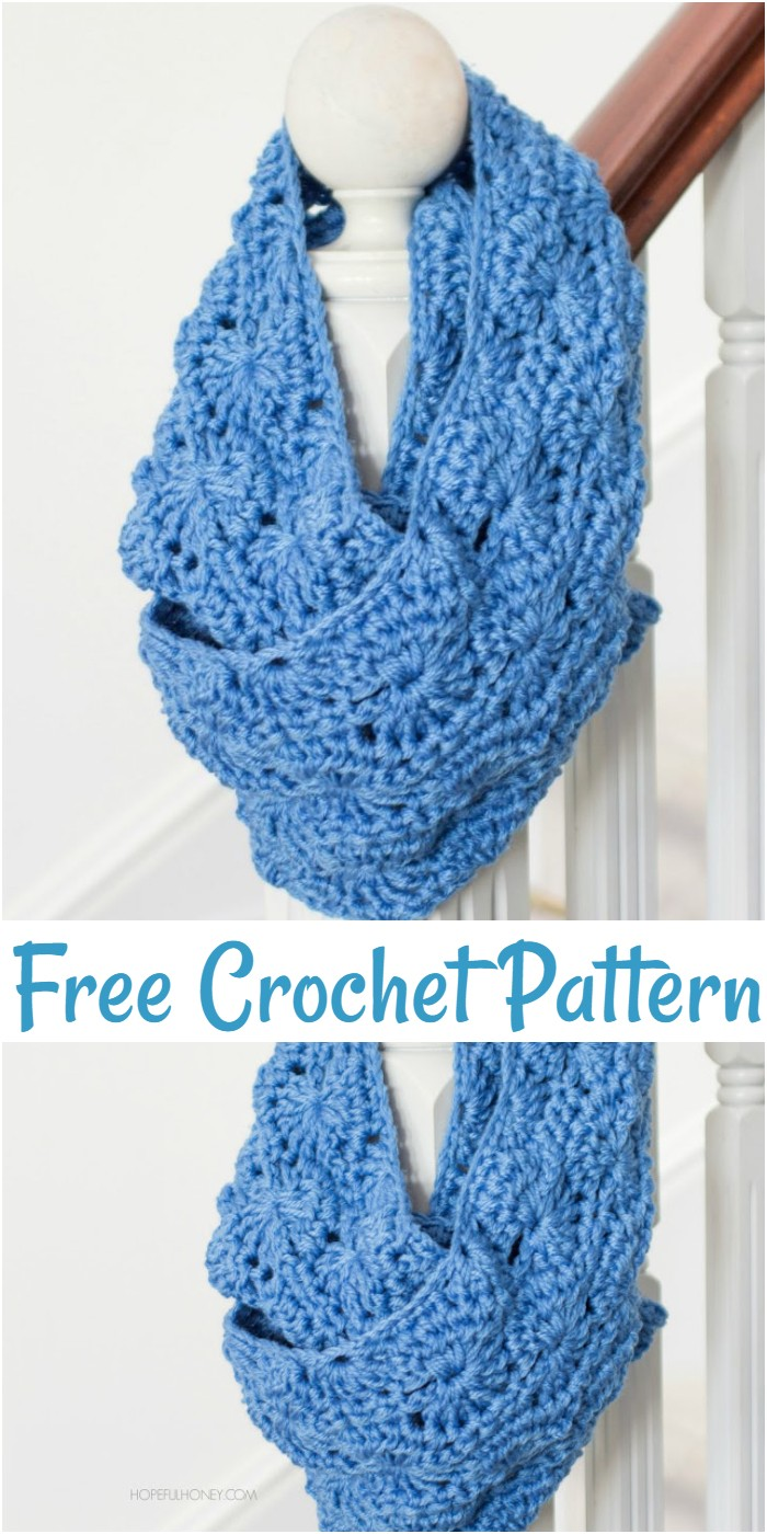Free Crochet Chunky Infinity Scarf Pattern