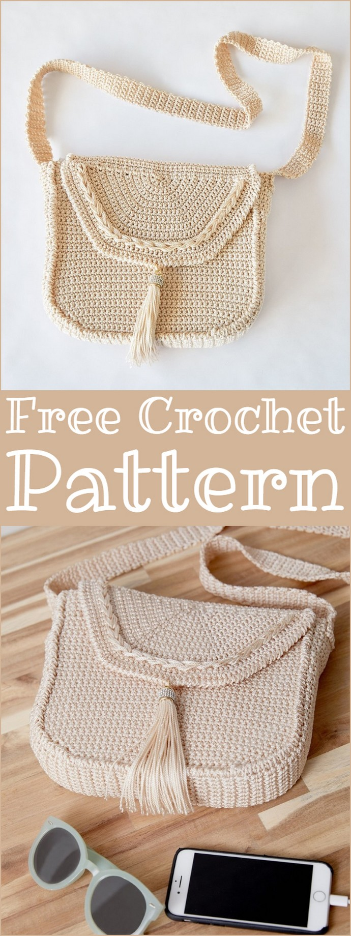 Crochet Cross Body Bag