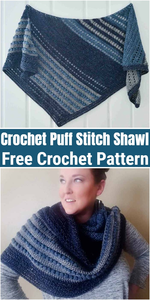Free Crochet Puff Stitch Shawl Pattern